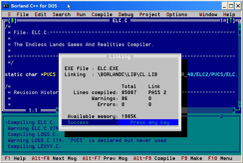 compilateur borland c
