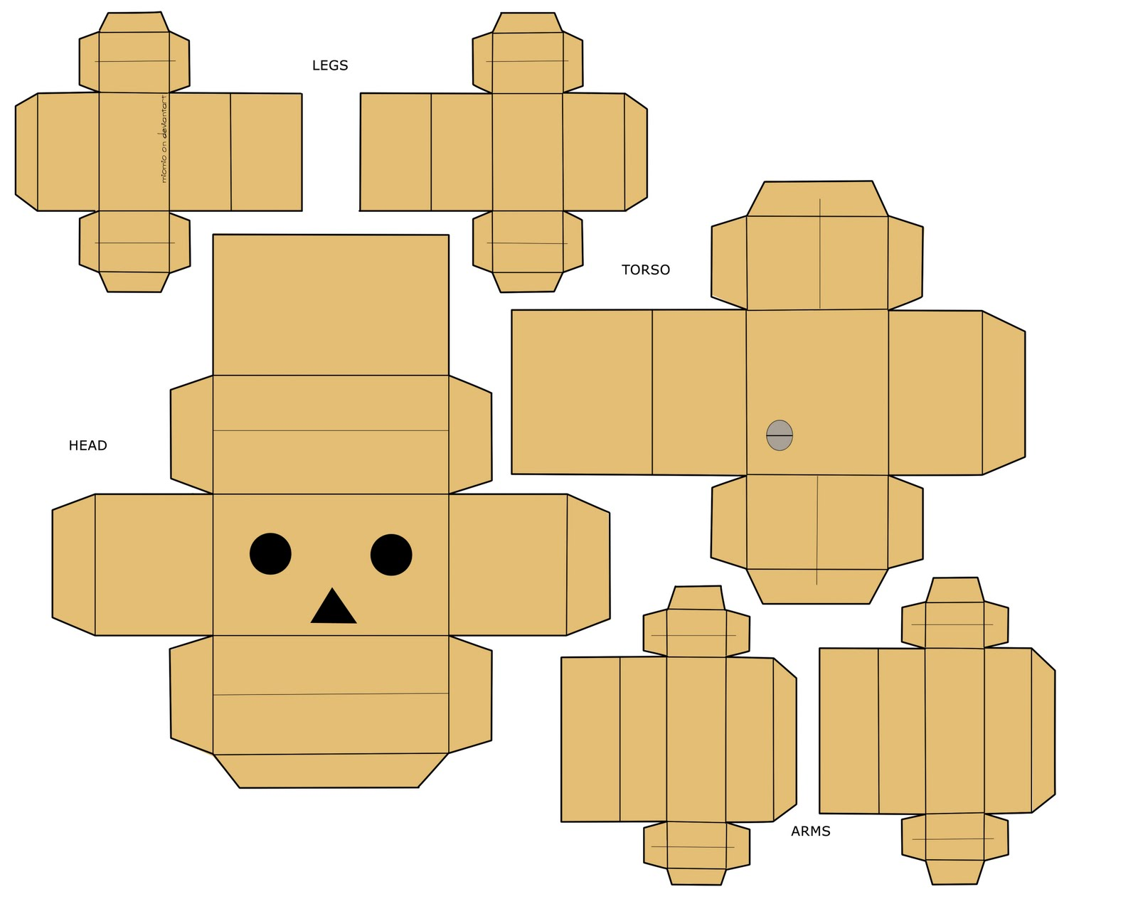 danbo le robot en carton paper. Black Bedroom Furniture Sets. Home Design Ideas