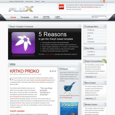 Yootheme flux 1 joomla downloads for Yootheme joomla templates free download