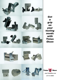 Get a grip of your testing needs with gripping solutions from Tinius Olsen