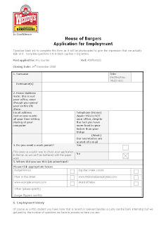 Wendys Job Application Form Online | Job Application Email Body