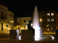 Fountain on the main square of Sternberk