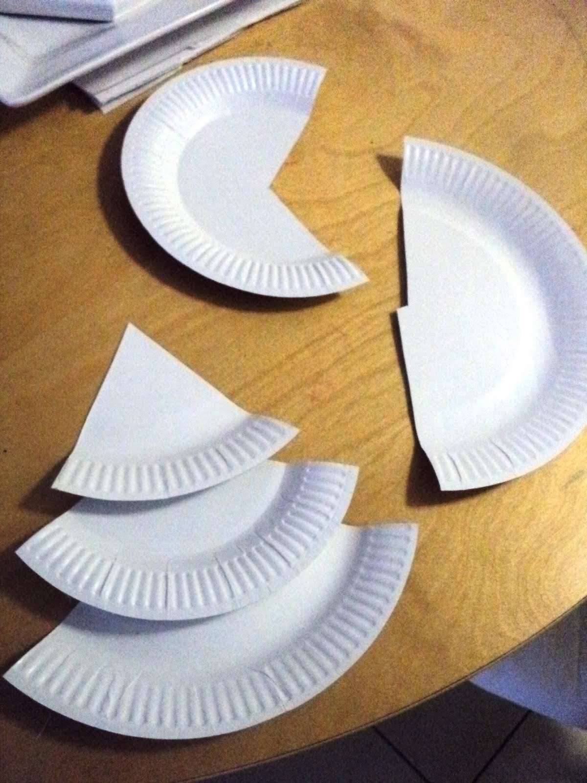 A Little Learning For Two Paper Plate Christmas Trees
