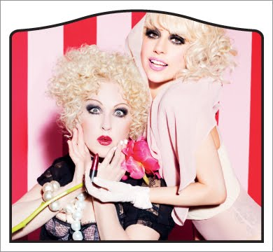 Lady Gaga and Cyndi Lauper for MAC Viva Glam
