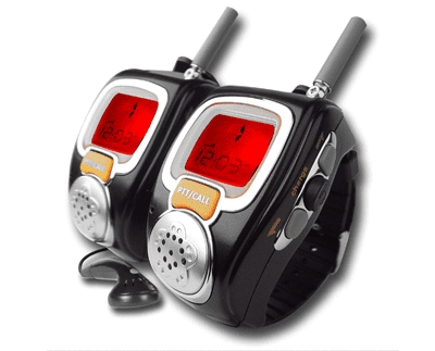 Voice Activated (VOX) Walkie Talki Watch With Red Backlight