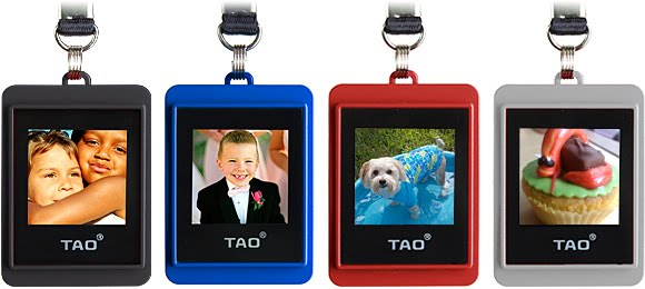 Multi colors of Tao digital photo keychain