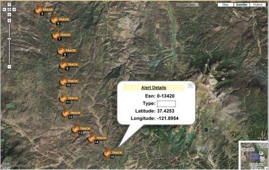 SPOT GPS tracking via google maps