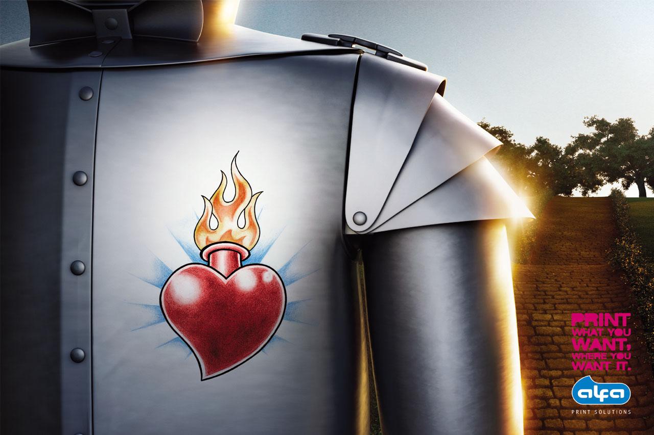2fe59733d kiss my black ads: Alfa Print Solutions: Tin man, Pinocchio tattoo