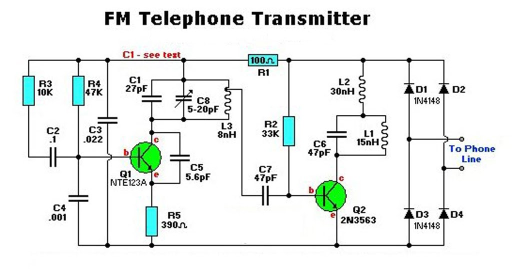 Electronic Fm Telephone Transmitter Circuit Electronic