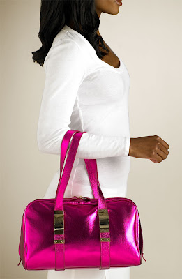 I Love When Warm Weather Starts To Roll Around Because Feel That You Can Get Away With So Much More In Terms Of Color This Hot Pink Metallic Bag Is Just