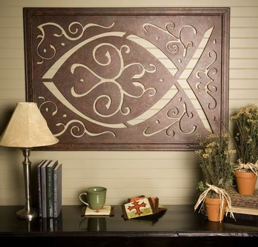 """12"""" Fish Cross ? ChristianGiftsPlace.Com Online Store - Ichthus Cross Wall Decorations"""