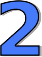 blue number 2