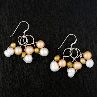 gold and pearl earrings from lulu by leah