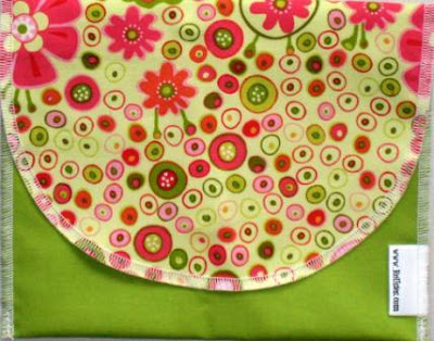 best reusable snack bags in pink and green