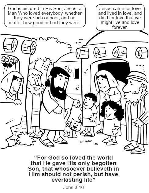 john 3 coloring pages   My Little House: John 3:16