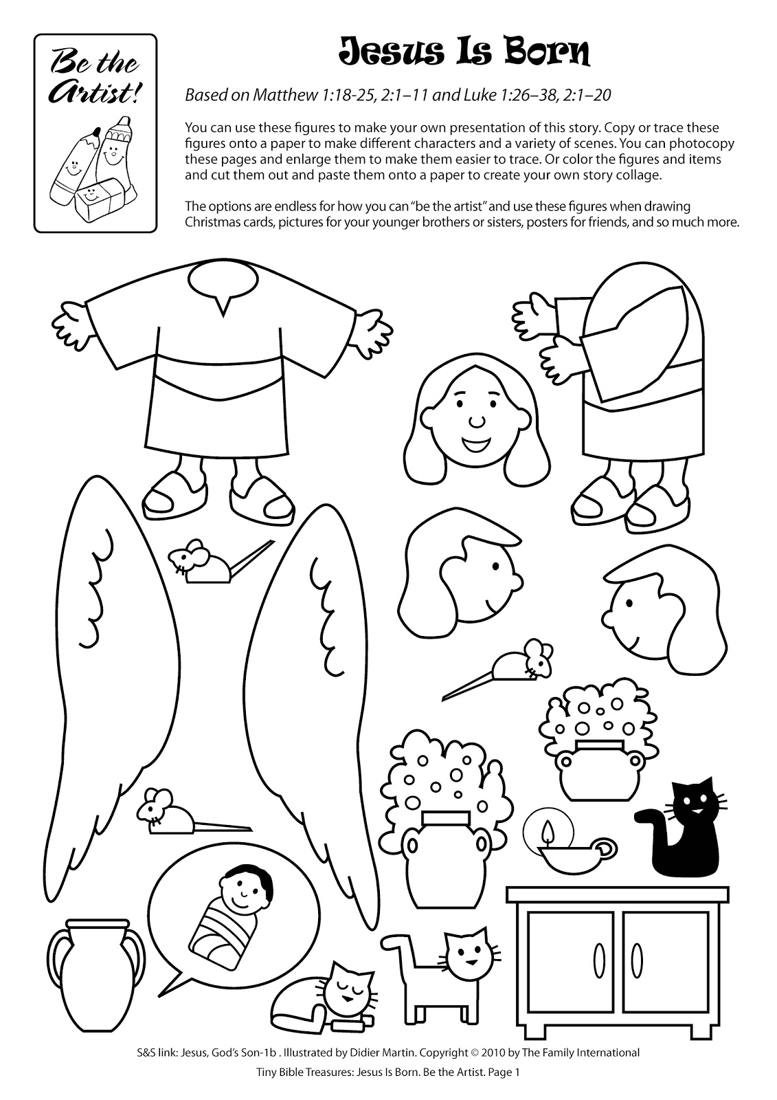 story of jesus birth coloring book
