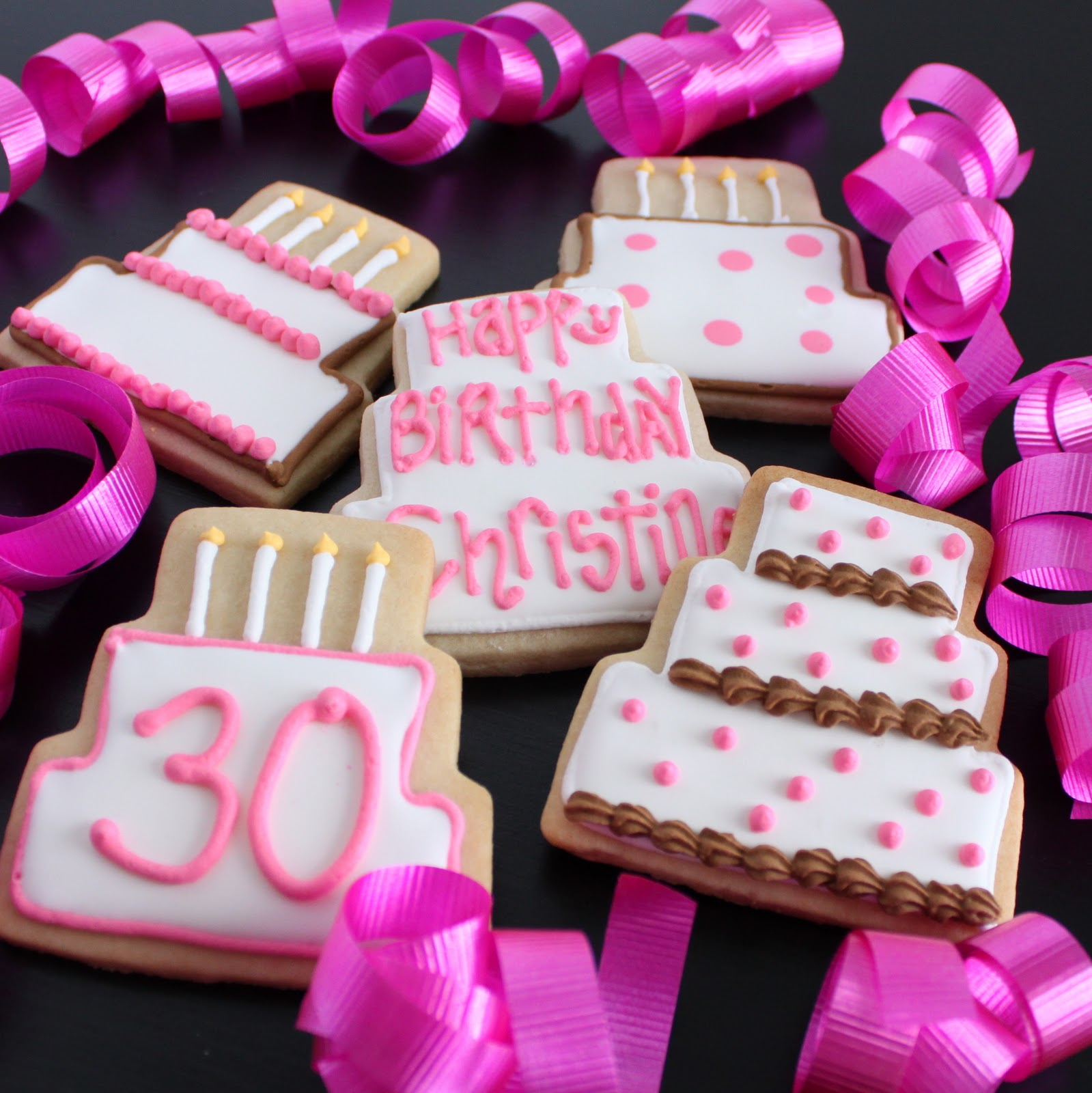 Birthday Cake And Royal Icing Sugar Cookies