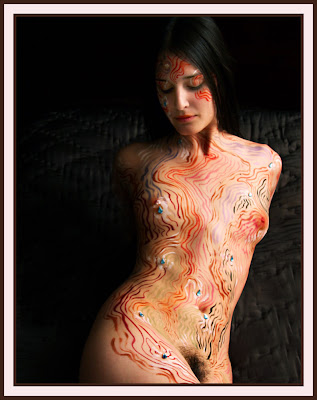 Abbeykonowitch Best Quality Colour Body Painting
