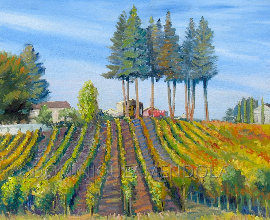 Daily Painting By Artist Dominique Amendola Vineyard In