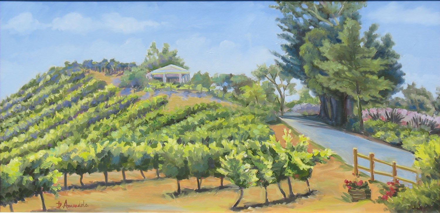 Daily Painting By Artist Dominique Amendola Vineyard On A