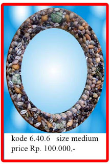 cermin oval kerang