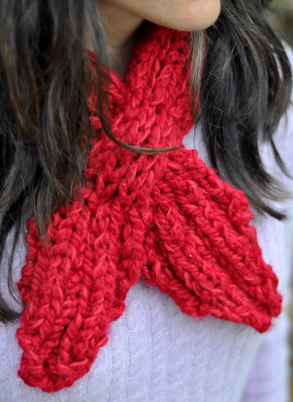 Aesthetic Nest Knitting Looped Scarflette For Me Pattern Giveaway