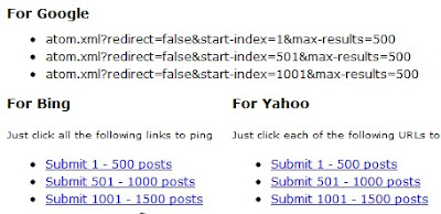 Sitemap Blogger Yang Lebih Lengkap