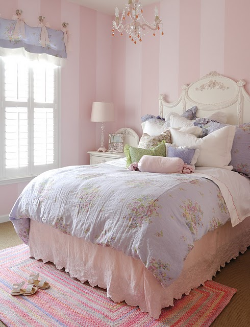 Little Sooti Pale Pink Walls Girls Rooms