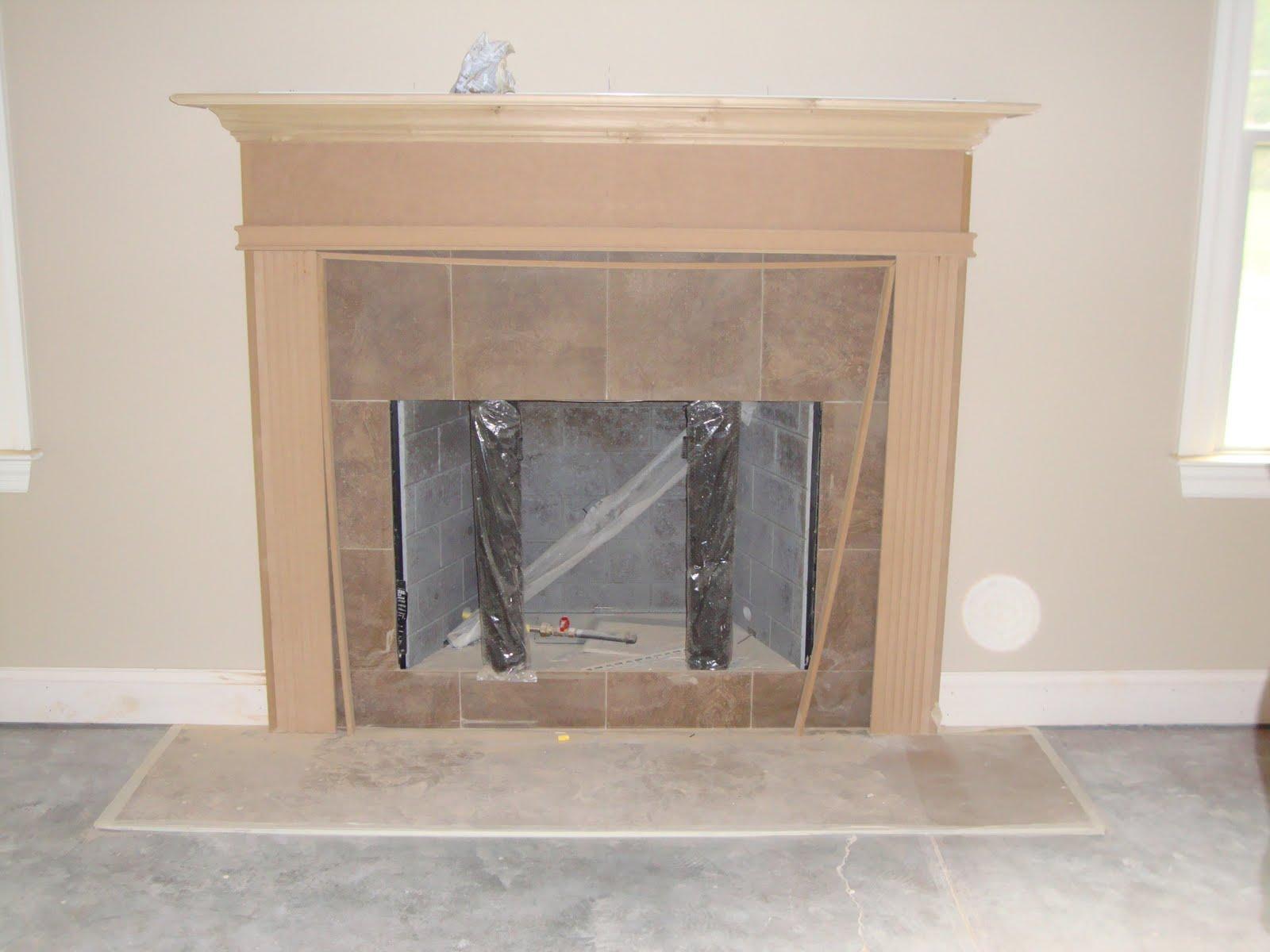 Home Building Project Backsplash Front Door Mantle And