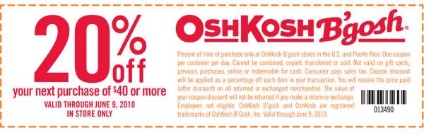 photograph about Osh Coupons Printable titled Fernley Loved ones: Osh Kosh BGosh Discount coupons