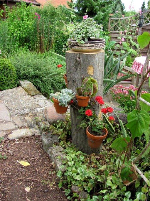 Baumstamm Im Garten Dekorieren Tolle Baumstamm Dekorieren