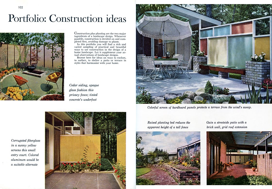 Mid century living wood privacy screens for Better homes and gardens fence ideas