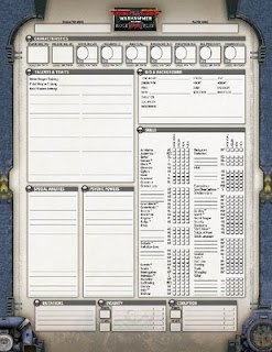 Zorcon's Word: Dark Heresy Character Sheets
