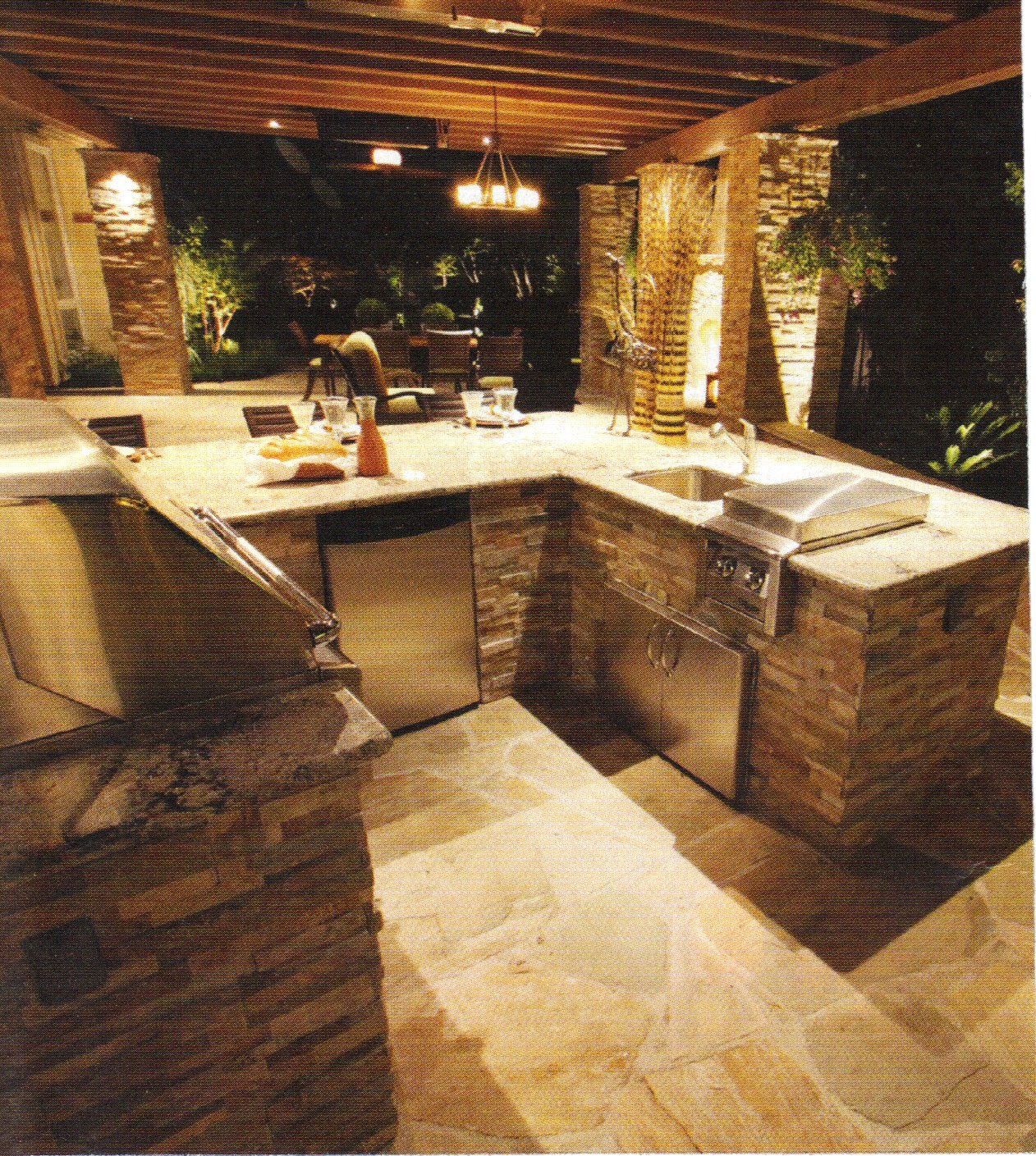 100 Outdoor Kitchen Design Ideas Photos Features: Bedrock Stone Fabrication, Inc.: OUTDOOR ISLAND STYLES