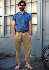 Moda Men Pantalones Pesqueros
