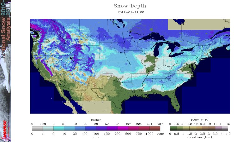 MWN Blog: Mid-South and national snow cover
