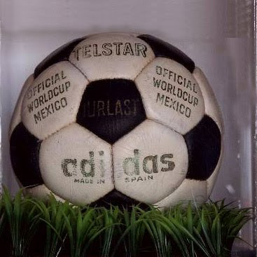 25b54f17530 1970 - ADIDAS TELSTAR Made in France or Spain Material  Leather Authentic  printing on ball (in Gold Lettering)  Telstar Durlast (in black panel)  Official ...