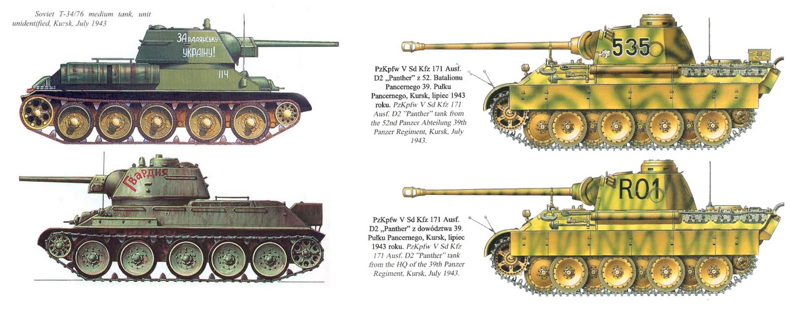 A Tiger and a T-34-85 side by side, the size difference is ...