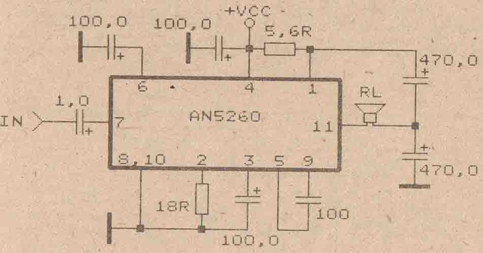 power amplifier circuit with ic anxxxx collection electronic circuit