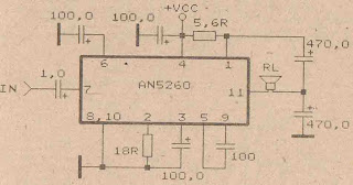 Power Amplifier Circuit with IC AN5260