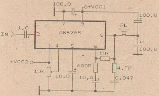 Schematic Audio Amplifier with IC AN5265 | Wiring Diagram