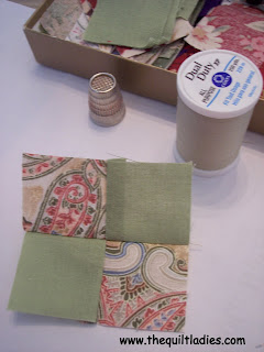 how to hand piece a quilt