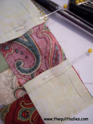 how to hand piece a quilt block
