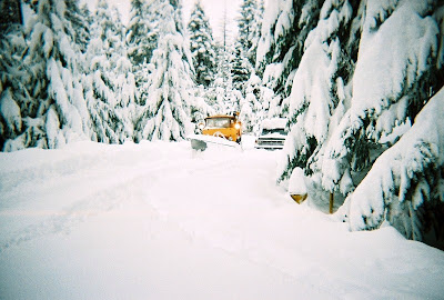 DOT plowing 30 inches of snow Oregon Caves National Monument Oregon