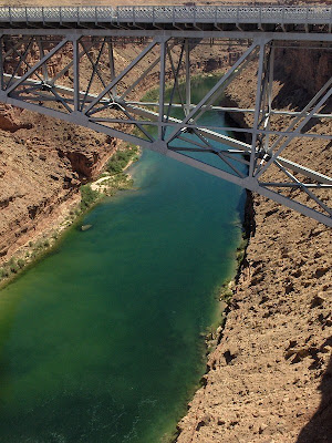 Navajo Bridge over the Colorado River at Marble Canyon Arizona