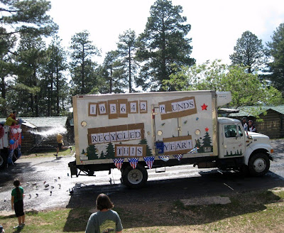Forever Resorts recylcing truck 4th of July parade North Rim Grand Canyon National Park Arizona