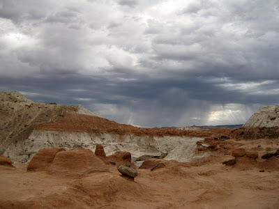 Stormy sky Toadstools Grand Staircase-Escalante National Monument Utah