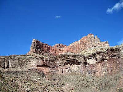 Looking up North Kaibab trail Grand Canyon National Park Arizona