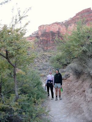Jan and Amy Plateau Point trail Grand Canyon National Park Arizona