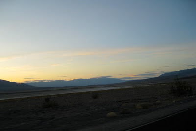 Sunset over Death Valley National Park California